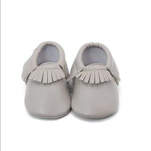 NEW Light Gray Baby Neutral Non Slip off Moccasins